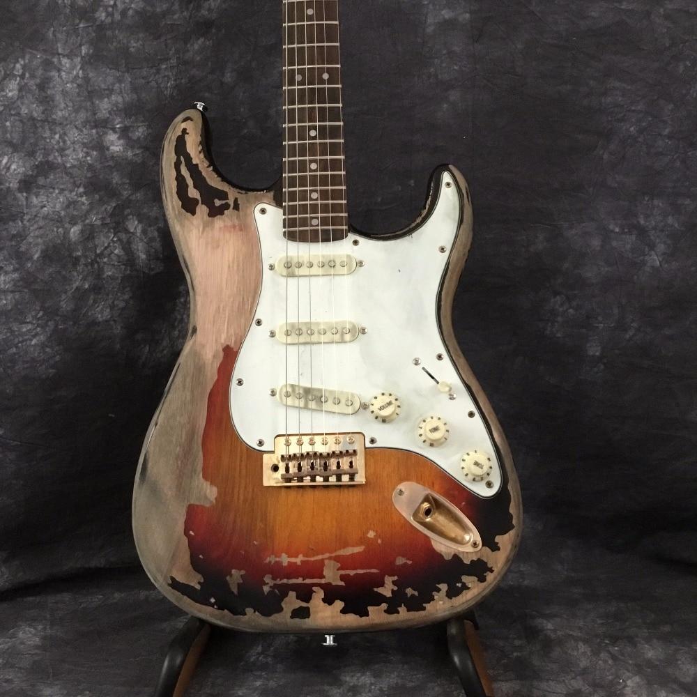 Custom Shop masterbuilt John Croisière et John Mayer BLACK1 Hommage ST Guitare Électrique vraie photo,