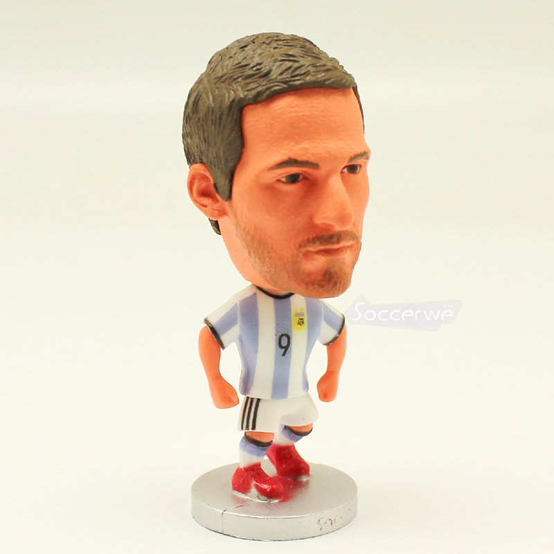 Football star Soccer Player Star 9# HIGUAIN (ARG-2016) 2.5 Action Dolls Figurine FreeShipping