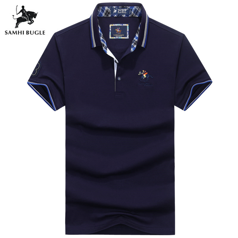 High Quality Tops&Tees   Polo   Shirt Men Business Brands   Polo   Shirts 3D Embroidery Turn-down Collar   Polos   Para Hombre