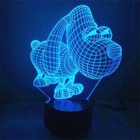 Stile nordico Occhi Grandi Cane 3D Touch USB Interruttore di Notte Lampada Della luce LED Luce Atmosfera Camera Da Letto lampada Da Tavolo Regalo per bambino