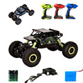 RC Car 1/18 Scale 2.4Ghz 4CH Electric Plastic RC Car 4WD Remote Control Toy Competitive Cars Rock Crawler Buggy Rock Climber