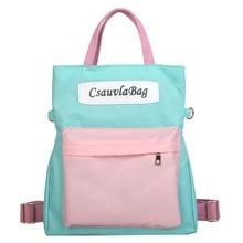 bags for women 2019 Student Diagonal Canvas Contrast Color Multi-Purpose Shoulder Bag Backpack Sister diagonal bolsa feminina