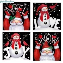 Christmas Gift 5D DIY Diamond Paint Cross Stitch Card Snowman Craft Embroidery Painting 3D Mosaic Home Decor