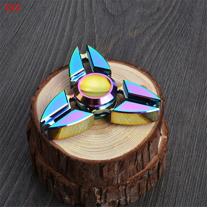 Aliexpress Buy 2017 New EDC Colorful Tri Spinner Fid Toys