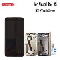 Alesser для Alcatel idol 4S ЖК дисплей и сенсорный экран с рамкой в сборе запасные части для телефонов Аксессуары + Инструменты