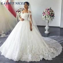 Skräddarsydd Bröllopsklänning 2018 Skräddarsydd Kappa Skräddarsydd Kappa Klänning Vestido de Noiva Skulder Klänning Kappa Brudklänning