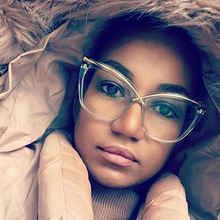 SOLO TU Fashion Personality Oversized Cat Eye Eyewear Frame Sunglasses Women Opt