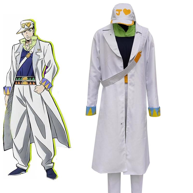JoJo's Bizarre Adventure Kujo Jotaro Cosplay Costume Outfit Suit Jacket Coat Hat Custom Made