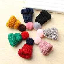 7 Color Cute Mini Knitted Hairball Hat Brooch Sweater Pins Badge Collar Clothes Accessories Creative Hats Pin Brooches Women(China)