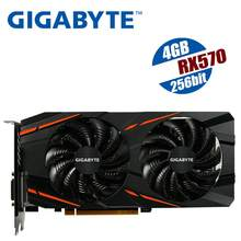 GIGABYTE RX 570 4GB Gaming GPU Video Card Radeon RX570 Gaming 4G Graphics Cards For AMD Video Cards Map HDMI RX580 580 mining(China)