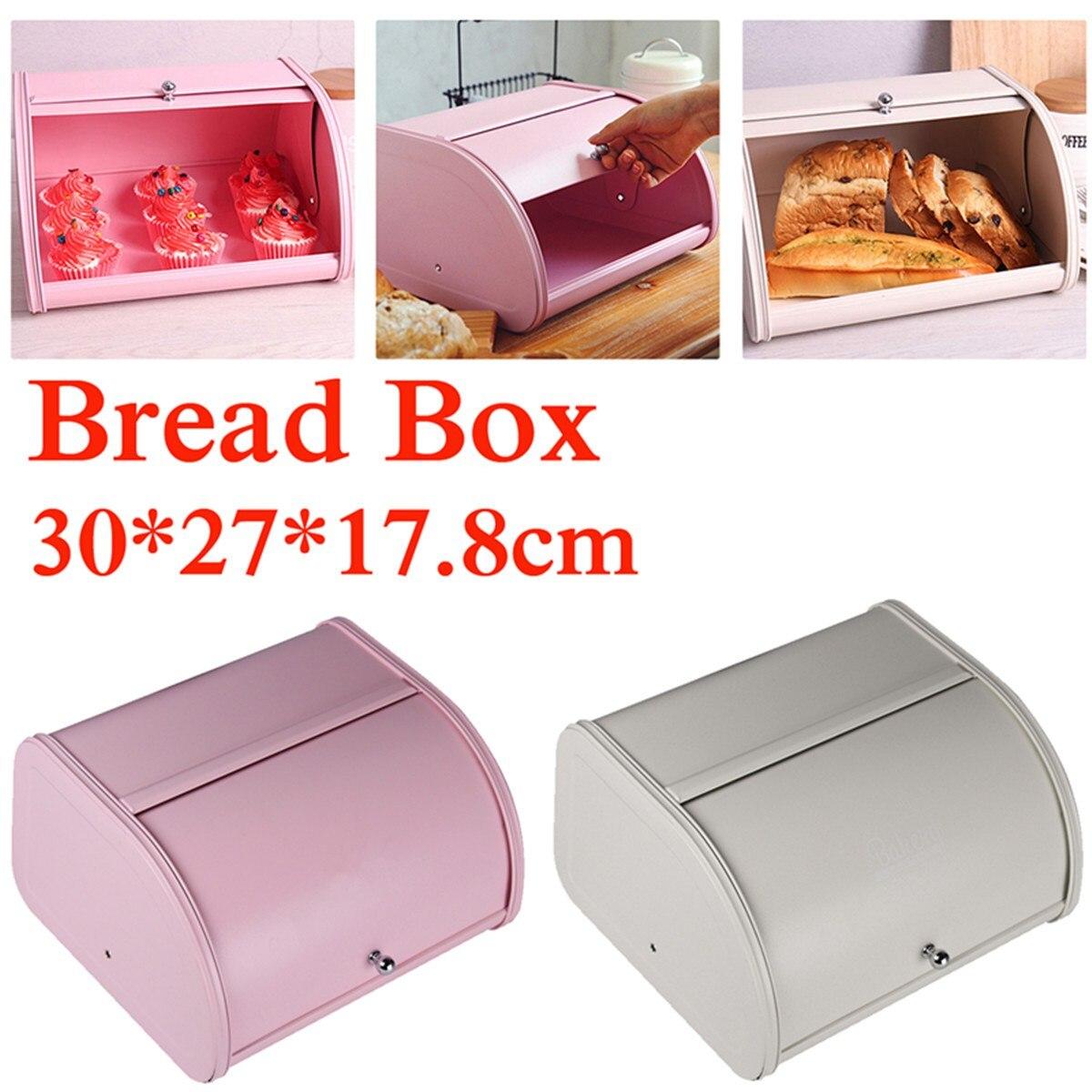 bread box Fine iron food storage container breakfast for kitchen Solid Continental stora ...