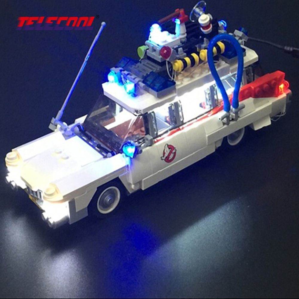 TELECOOL LED Light Up Kit (Only light set) For Ghostbusters Ecto-1 Compatible with Lepin 21108 Model Building Kit Toy lightaling led set only light set for cinderella princess castle building model lepin 16008 compatible with lego 71040