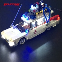 LED Light Up Kit For Ghostbusters Ecto 1 Model Building Kit Toy Compatible With Lego Ghostbusters