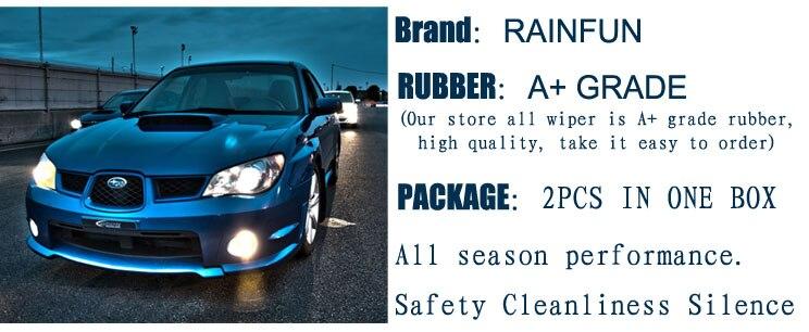 RAINFUN специальный автомобиль стеклоочистителя для Subaru Impreza(WAGON)(04-07), 22+ 17 дюймов Автомобильный Стеклоочиститель Авто мягкий стеклоочиститель, 2 шт. в партии