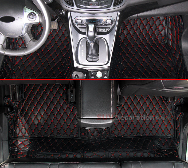 Accessories For Ford Explorer 5 seats 2011 - 2015 Accessories Interior Leather Carpets Cover Car Foot Mat Floor Pad 1set цена 2017