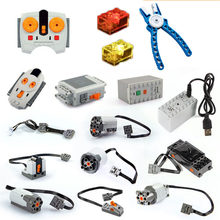 In Stock Legoinglys Train Technic Series Power Motor Rechargeable Battery Box IR Remote Receiver LED Light building block brick(China)