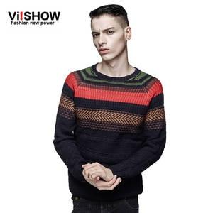 fb35ac4f1f6b Viishow male knitting Winter Men striped pullover sweater