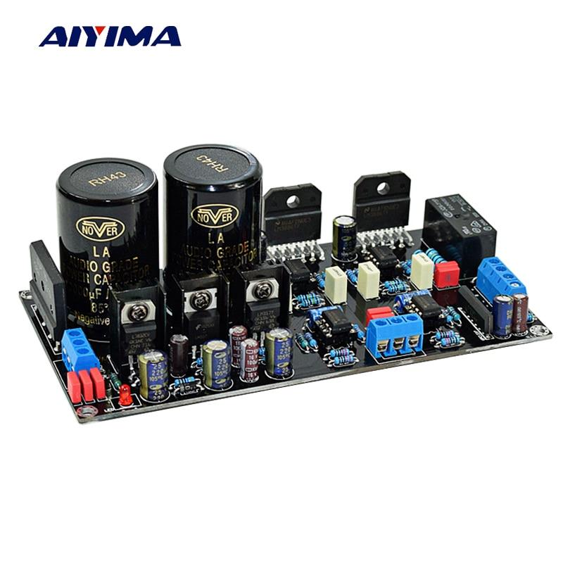 Aiyima HiFi High Power LM3886+NE5534 Op amplifier+OP07 DC servo 2.0 channel 68W *2 Audio Power Amplifier board aiyima 12v tda7297 audio amplifier board amplificador class ab stereo dual channel amplifier board 15w 15w