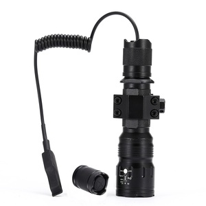 Image 2 - AloneFire TK104 CREE L2 LED Tactical Zoom Gun Flashlight Pistol Handgun Airsoft Torch Light Lamp for Outdoor hunting