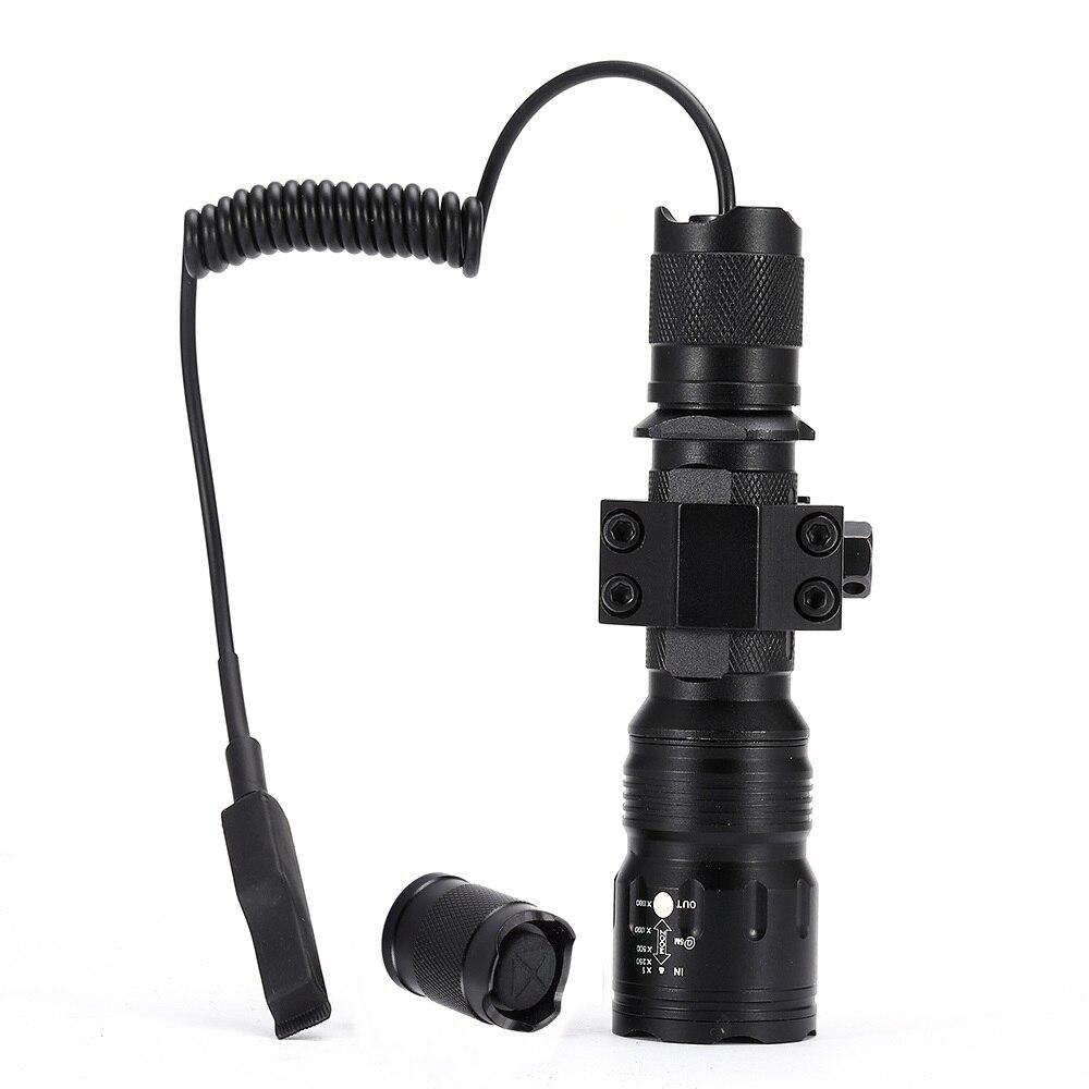 Image 2 - AloneFire TK104 CREE L2 светодиодный тактический Zoom пистолет вспышка светильник пистолет страйкбол фонарь светильник лампа для наружной охоты-in Фонарики и осветительные приборы from Лампы и освещение