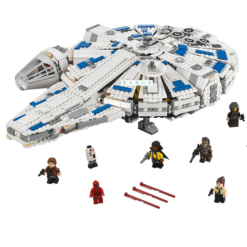 New 1584pcs Star Wars Series Building Blocks Force Awakens Millennium Fit For Legoing Starwars Toys Falcon Model Kids Toy Gift