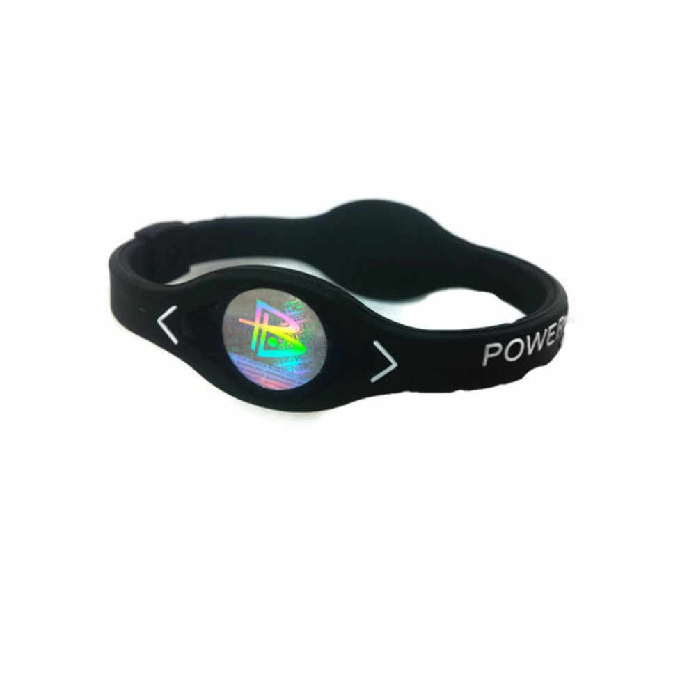 負イオンシリコーン電力エネルギーブレスレットスポーツリストバンドバランスイオン磁気治療良好な弾性ファッション耐久性のある