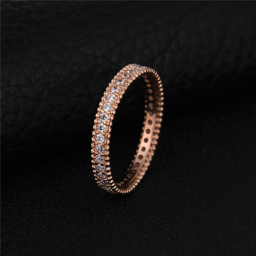 DODO 585 Rose Gold color Engagement Ring Jewelry For Women Wedding Band Anillos Bague Bijoux argent Crown ring bijouterie DR197 3