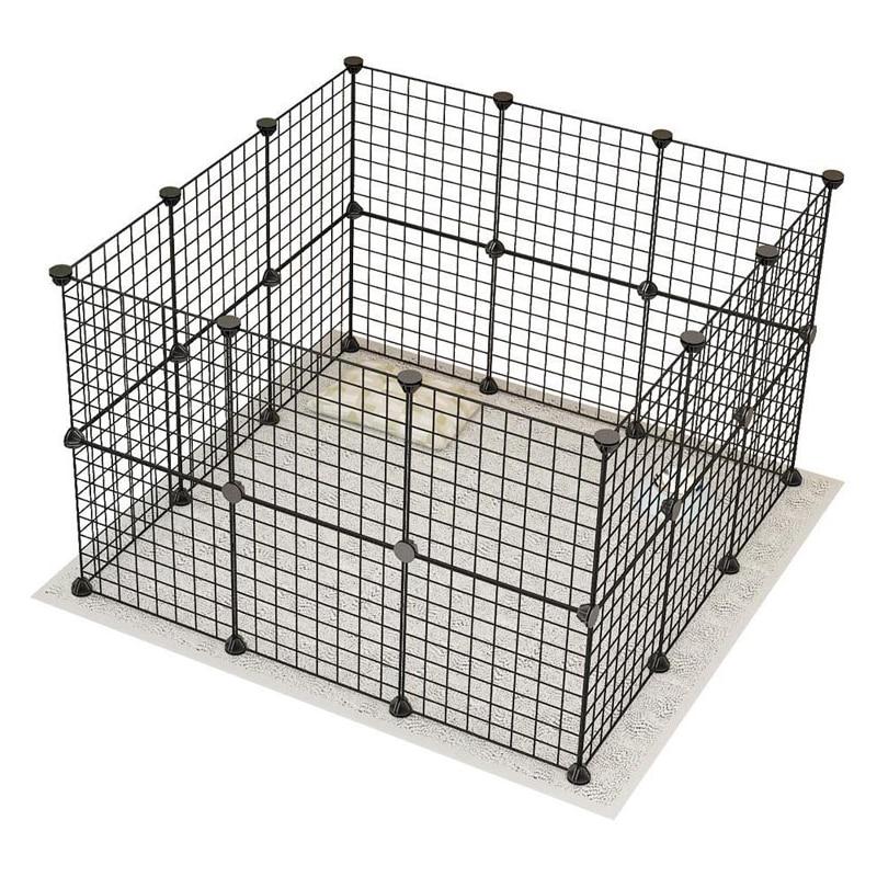 Petshy DIY Pet Fences Dog Cage Playpen Iron Net Cat Puppy Kennel House Free Combination Animal Bird Rabbit Playing Sleeping Room