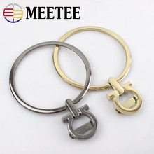 2pcs Meetee 9cm Round Ring Metal Bag Handle Purse Handbag Hardware Buckle Replacement Handmade Part Accessories