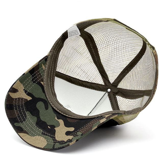 METAL SKULL CAMOUFLAGE BASEBALL CAPS (3 VARIAN)