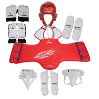 KANGRUI sport taekwondo protectors full set child adult helmet chest protector crotch hand foot guard for training competition