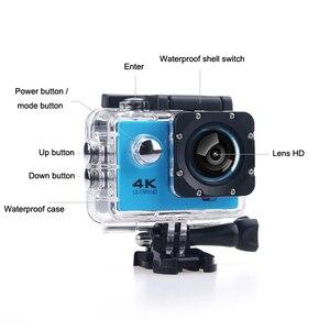 Image 2 - F600 F600R 4K Wifi kamera akcji 16MP 170D Sport DV 30M 1080P przejść wodoodporny Pro ekstremalne sporty wideo rower kask kamera samochodowa Dvr
