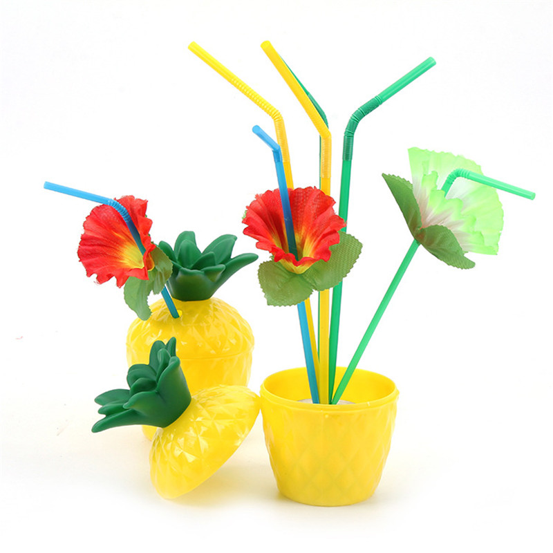 Pineapple Party Decor Light String Tropical Hawaii Beach Party Decor Balloons Flamingo quot ALOHA quot Banner Tableware Decor Supplies in Party DIY Decorations from Home amp Garden