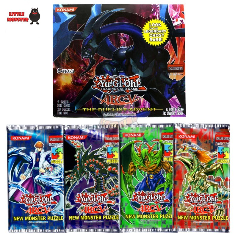 36 pcs/lot Yugioh Cards Y901 the Duelist Advent English Version Family Entertainment Yugioh cards game kid toys for children image