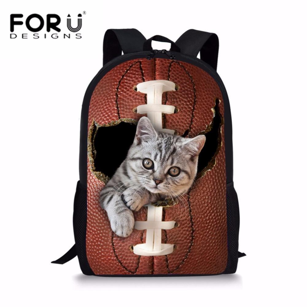 FORUDESIGNS Students School Bags Animal Printing Schoolbag for Teenager Girls Casual Shoulder Bagpack Chidren Large Bookbag