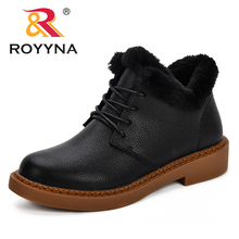 ROYYNA Snow Boots 2018 classic Women Winter Warm Plush Insole Ankle Shoes Hot Lace-Up Feminimo Footwear