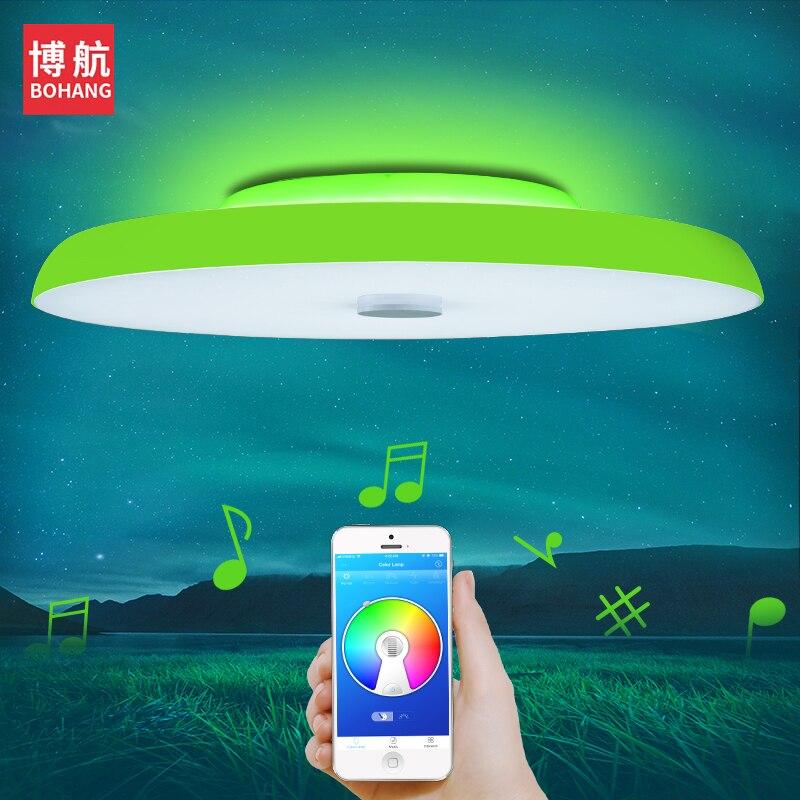 Plafond moderne à LEDs lumières Dimmable 36 W 48 W 72 W APP télécommande Bluetooth musique lumière haut-parleur foyer chambre plafonnier intelligent