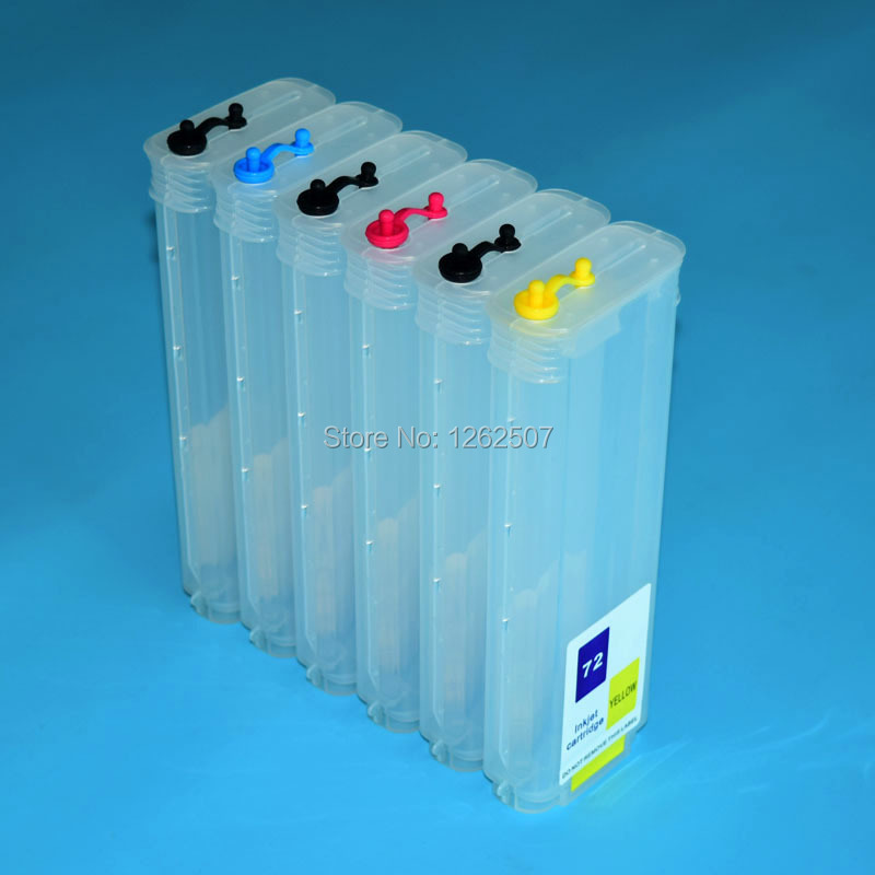 72 Refillable Ink Cartridge With ARC Chips For HP Designjet T610 T770 T790 T795 T790PS HP72 T1100 T2300 T1120 Printers