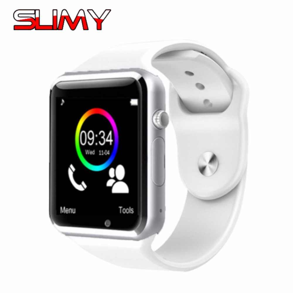 Slimy A1 Bluetooth Смарт-часы W8 для наручных часов Apple Watch с Камера 2G SIM TF слот для карты смарт-часы телефон для андроид IPhone России T15