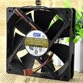 Entrega gratuita. 12 cm cm12 12025 ventiladores de la caja del ventilador de la CPU de 4 pines 4 líneas de control de temperatura PWM de regulación de velocidad
