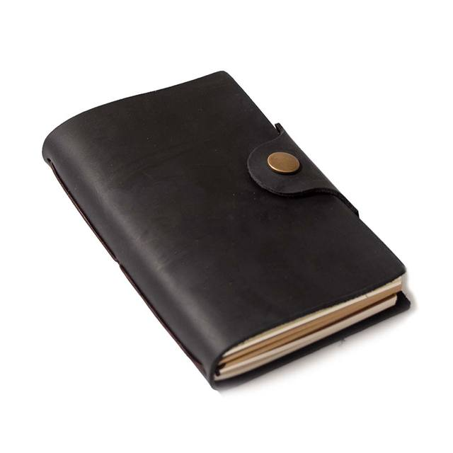 Blank Diaries Journals notebook note book A6 genuine leather cover personal planner note book grey black brown travel Sketchbook