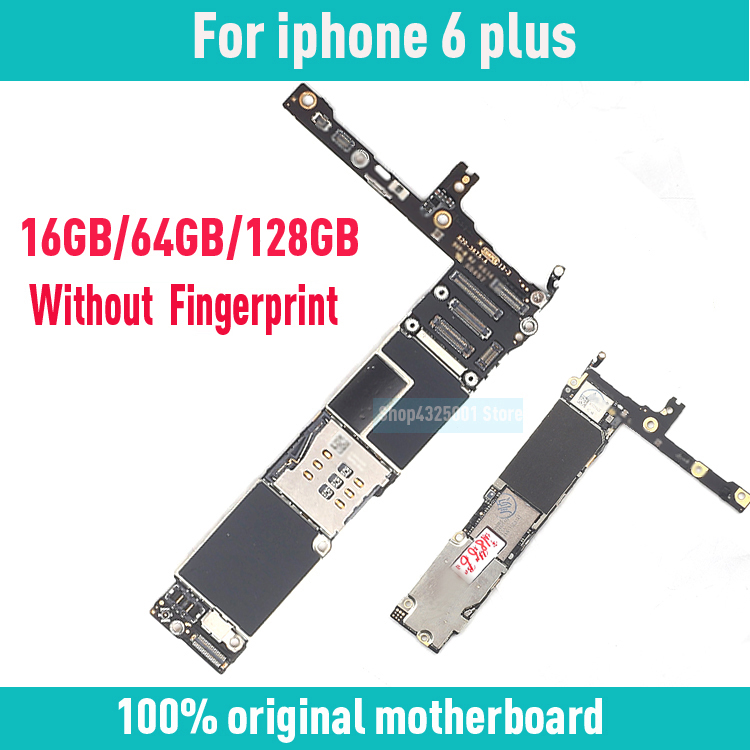 For iphone 6Plus original motherboard NO Fingerprint 16GB 64GB 128GB Factory unlock mainboard for iphone 6 plus IOS logic board