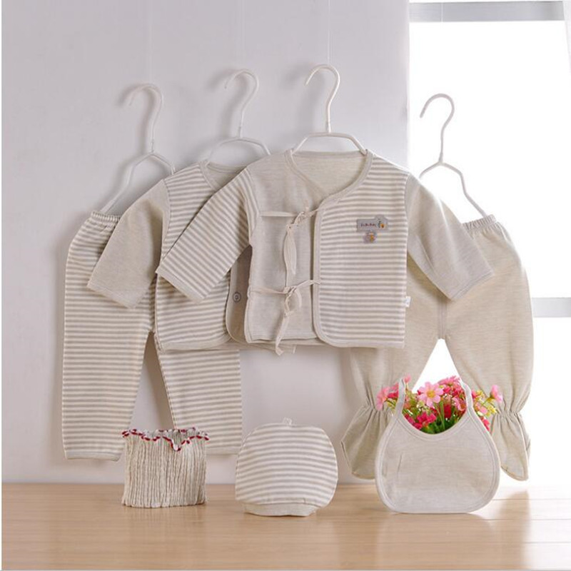 new fashion (7pcs/set) Newborn Baby 0-6M Clothing Set gift Baby Boy/Girl Clothes 100% Cotton Grooming & Healthcare Kits
