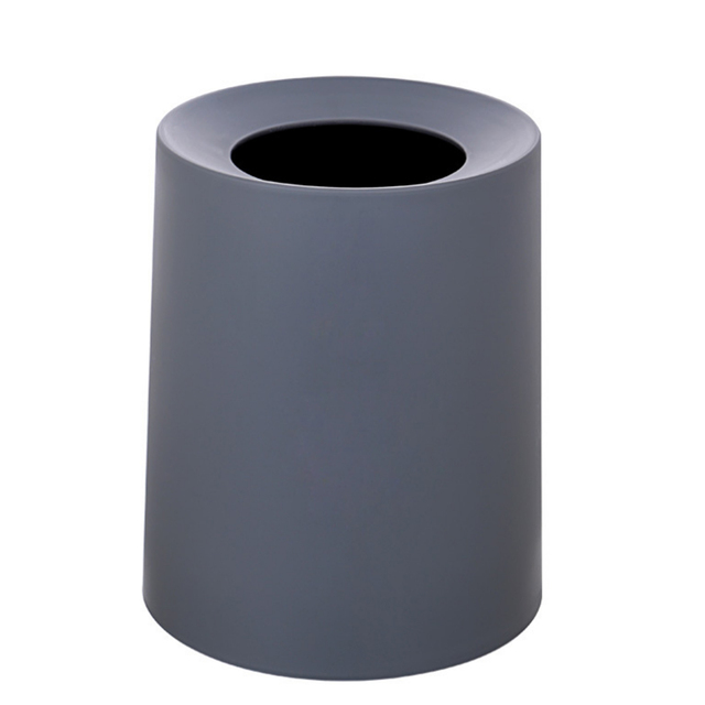 North European Style Plastic Matte Trash Can Office Living Room