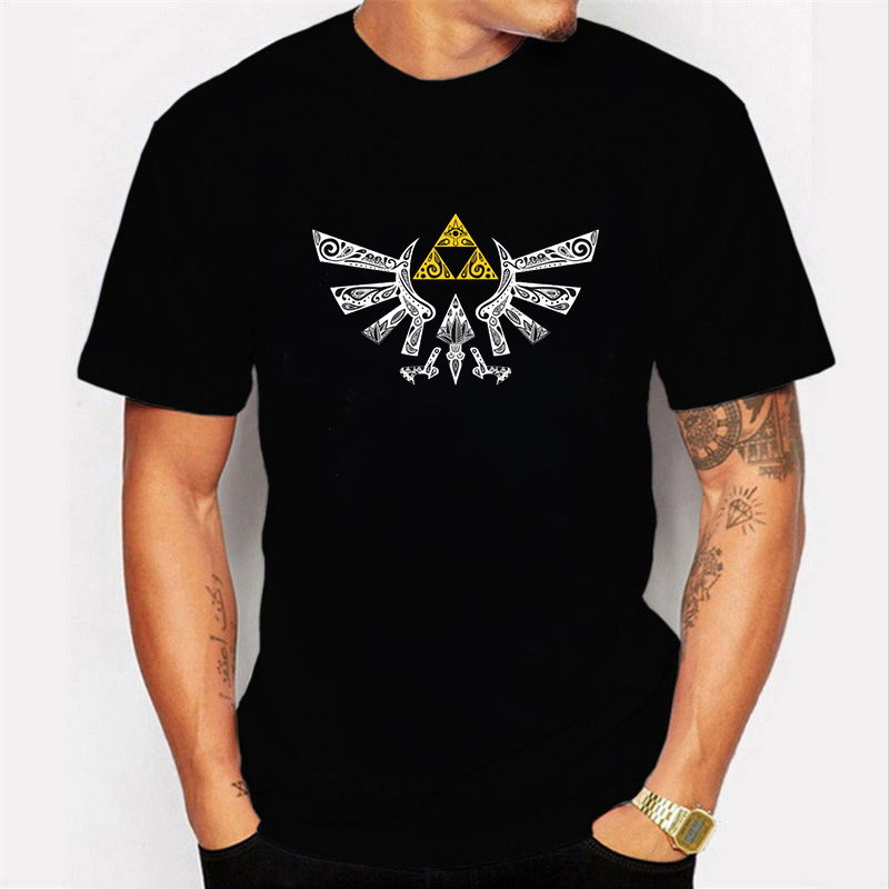 The Legend of Zelda Tshirt Game Prints   T     Shirt   Casual White Black   T  -  shirt   Summer Fashion Tops Tees   Shirts   for Men Clothing