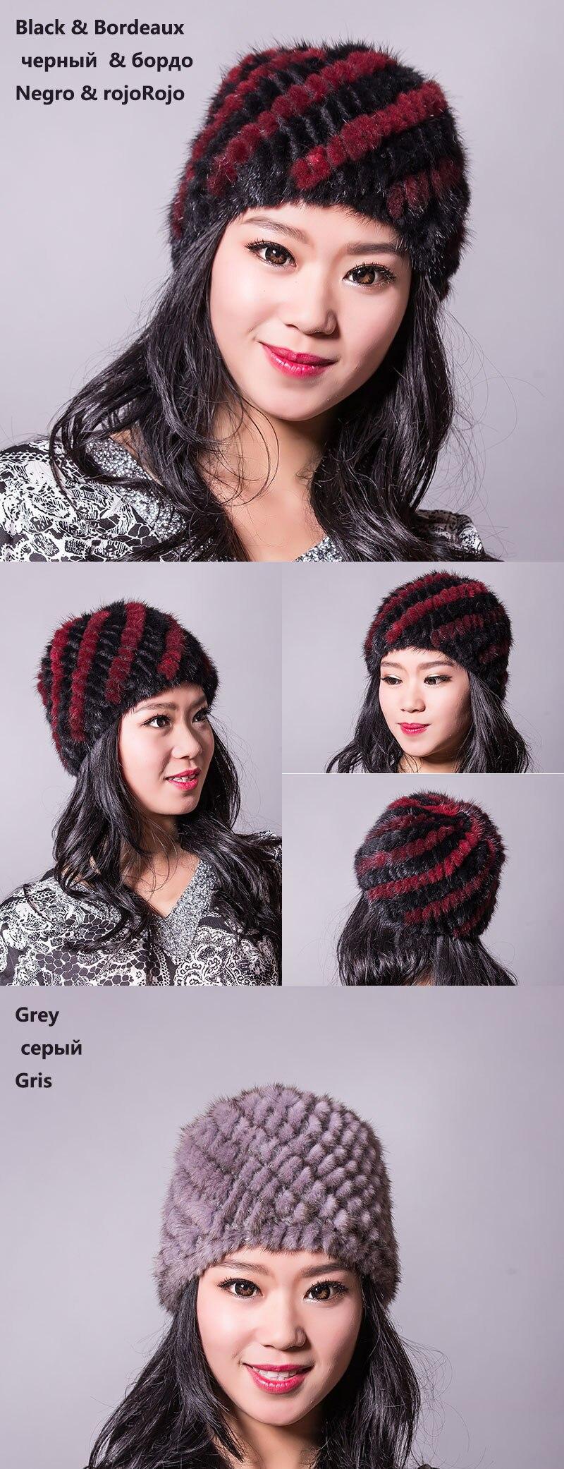 אמיתי חורפן פרווה כובע מצחייה כובע הראש מתחמם הקסדה הכי הגולגולת נשים' כובע חורף מתנה טובה