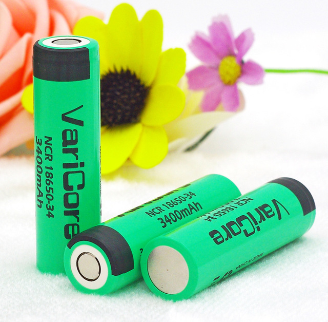 10 pcs VARICORE ncr18650 &#8211; 34 <font><b>18650</b></font> lithium <font><b>battery</b></font> &#8211; ion rechargeable 3.7 V <font><b>3400</b></font> <font><b>MAH</b></font> <font><b>battery</b></font>.