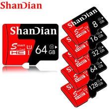 Cartão de memória da qualidade superior de shandian micro sd 128gb 64gb 32 16gb 8gb micro sd cartão de memória para o telefone/tablet/pc