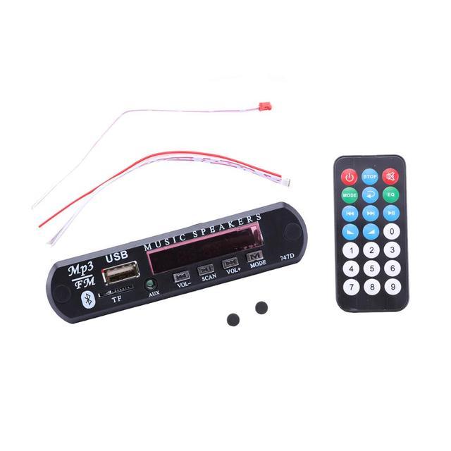 Módulo Bluetooth inalámbrico M512/5 WMA reproductor MP3, placa decodificadora de Audio 3,5mm, placa decodificadora de MP3, Radio TF, FM, AUX, para coche, para IPhone