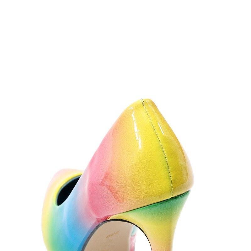 Talones Imprimir Arco Tacón Zapatos Nueva Del Vestido Otoño Mujer Color Patchwork Partido Primavera Sexy Plataforma Flor 1 Iris De 2 Bombas 2019 Un0qOwIAx